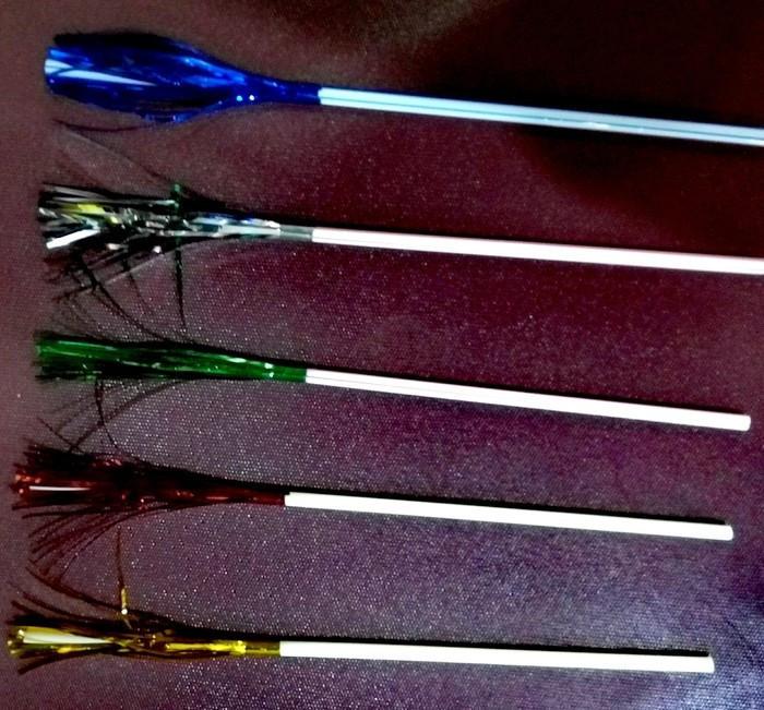 Трубочка пластиковая с изгибом и пальмой разных цветов L 240 мм (уп 50 шт)