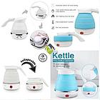 Электрочайник дорожный складной Kettle foldable travel electric, чайник электрический складной силиконовый, фото 3
