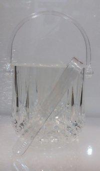 Ведро для льда акриловое с щипцами V 1000 мл (набор 2 шт)