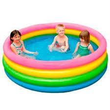 Детский надувной бассейн Радуга Intex 56441 168-41см