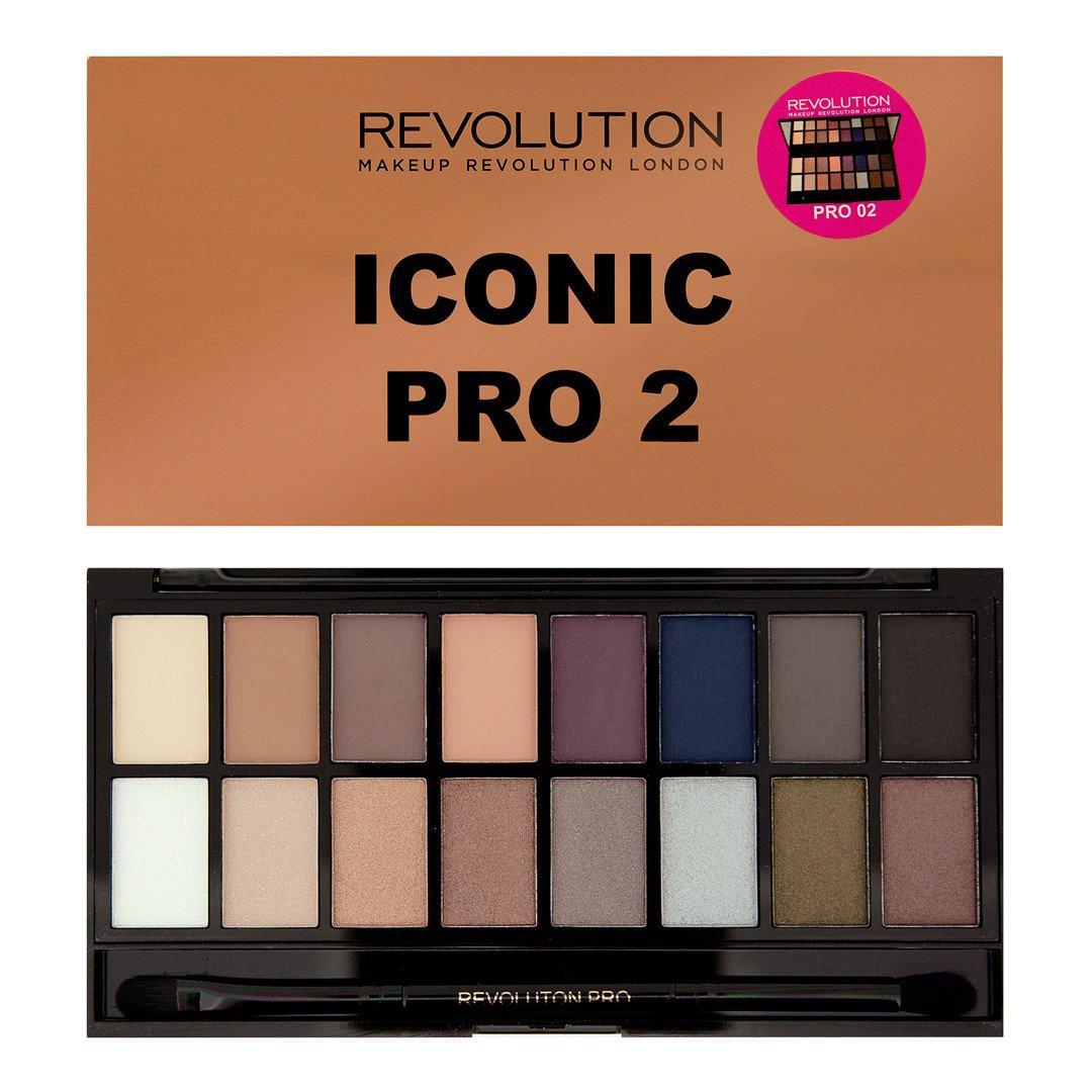 Тени для век Revolution Makeup Iconic PRO 2 (16 цветов)