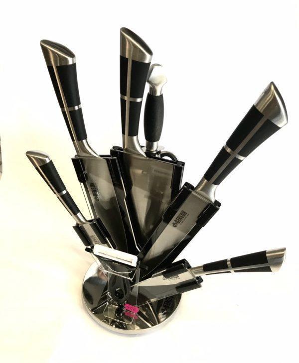Набор кухонных ножей Benson 9 предметов