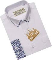 Белая рубашка для мальчика (2000 Rodes), KNIAZHYCH (Княжич) 128 (8 лет) р. Белый
