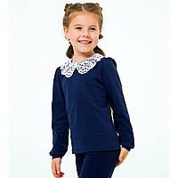 Блуза для девочки с длинным рукавом, темно-синяя (114765), Smil (Смил) 128 (8 лет) р. Темно-синий
