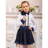 Блуза школьная для девочки (0005), ТМ Mychance 128 (8 лет) р. Белый