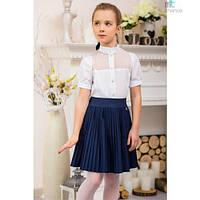 Блуза школьная для девочки (0017), ТМ Mychance 146 (11 лет) р. Белый