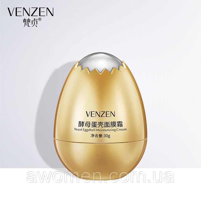 Уценка! Протеиновый крем на яичном белке Venzen Yeast Eggshell Moisturising Cream,30g (мятая коробка)
