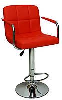 Барный стул со спинкой Bonro B-628-1 красный, фото 1