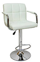Барный стул со спинкой Bonro B-628-1 белый, фото 1