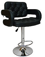 Барний стілець хокер Bonro B-823A чорний, фото 1