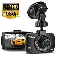 Автомобільний відеореєстратор G30-B Full HD 1080p 6 LED, тахограф нічного бачення, G-сенсор