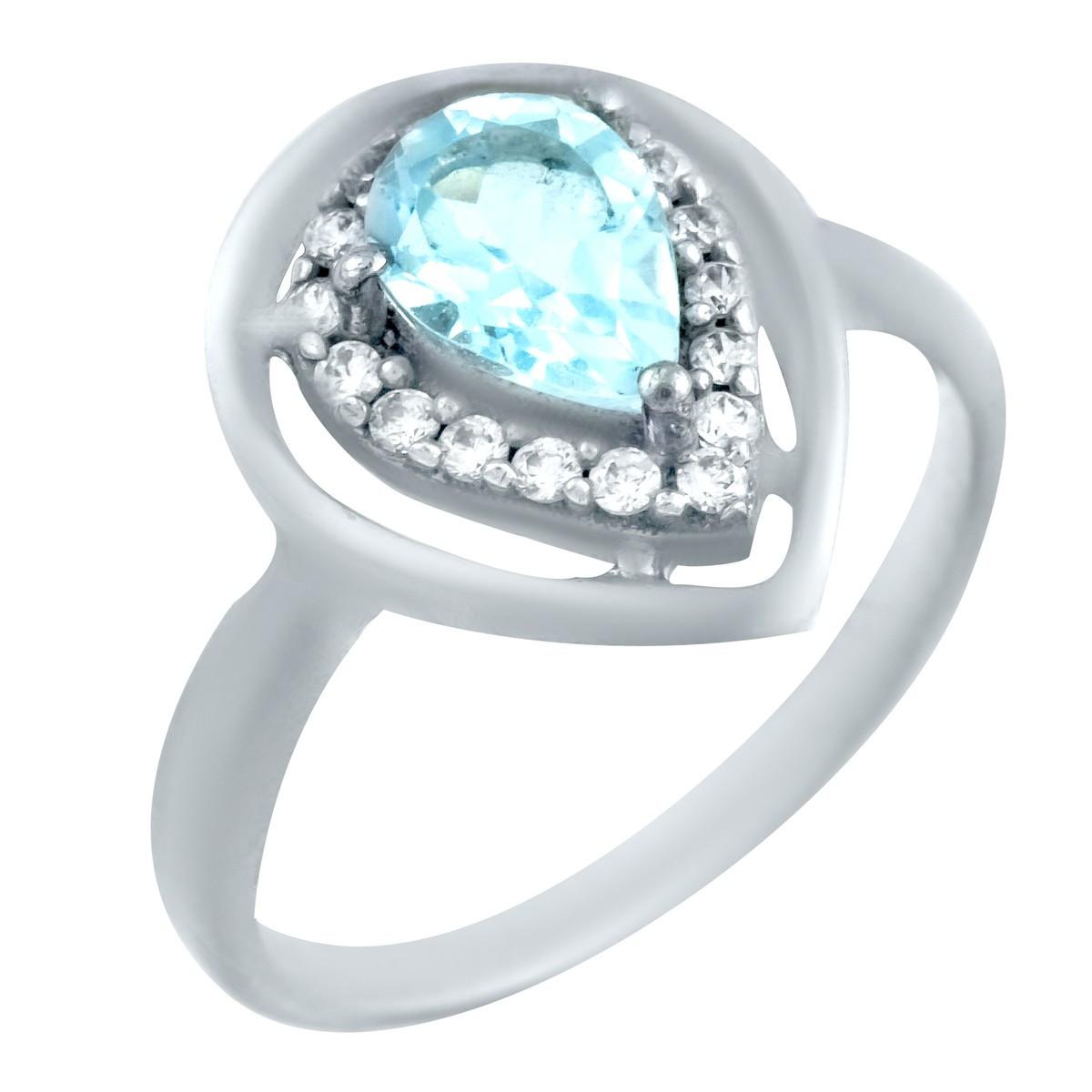 Серебряное кольцо pSilverAlex с натуральным топазом (0461908) 16 размер