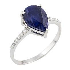 Серебряное кольцо pSilverAlex с сапфиром nano (0467986) 16.5 размер