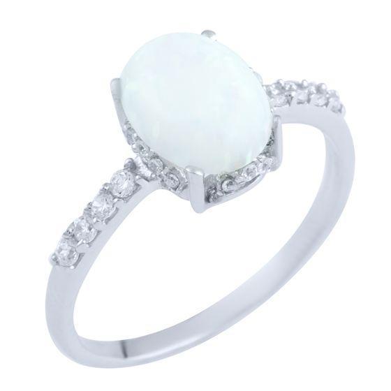 Серебряное кольцо pSilverAlex с опалом (0474175) 18 размер