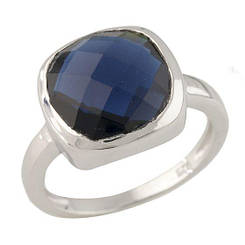 Серебряное кольцо pSilverAlex с сапфиром nano (0712222) 17.5 размер 3.73, 16.5