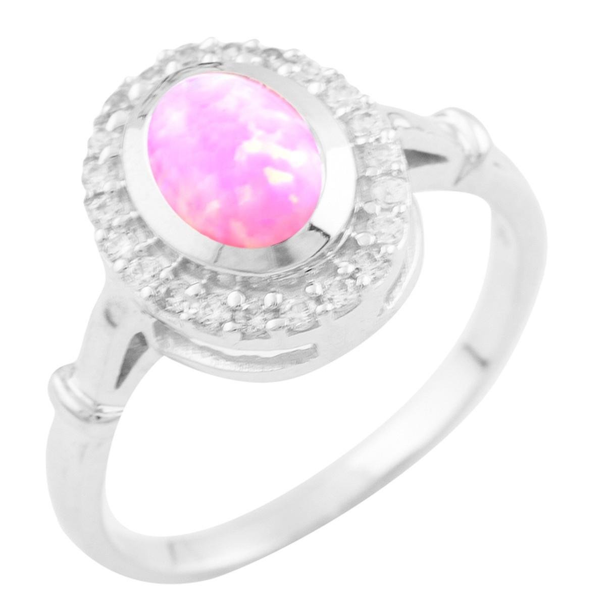 Серебряное кольцо pSilverAlex с опалом (0926650) 18.5 размер