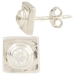 Серебряные серьги pSilverAlex с фианитами (0949918)