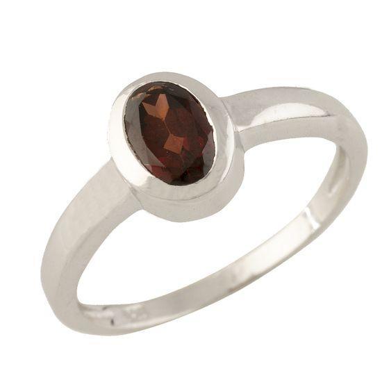 Серебряное кольцо pSilverAlex с натуральным гранатом (1317679) 16.5 размер