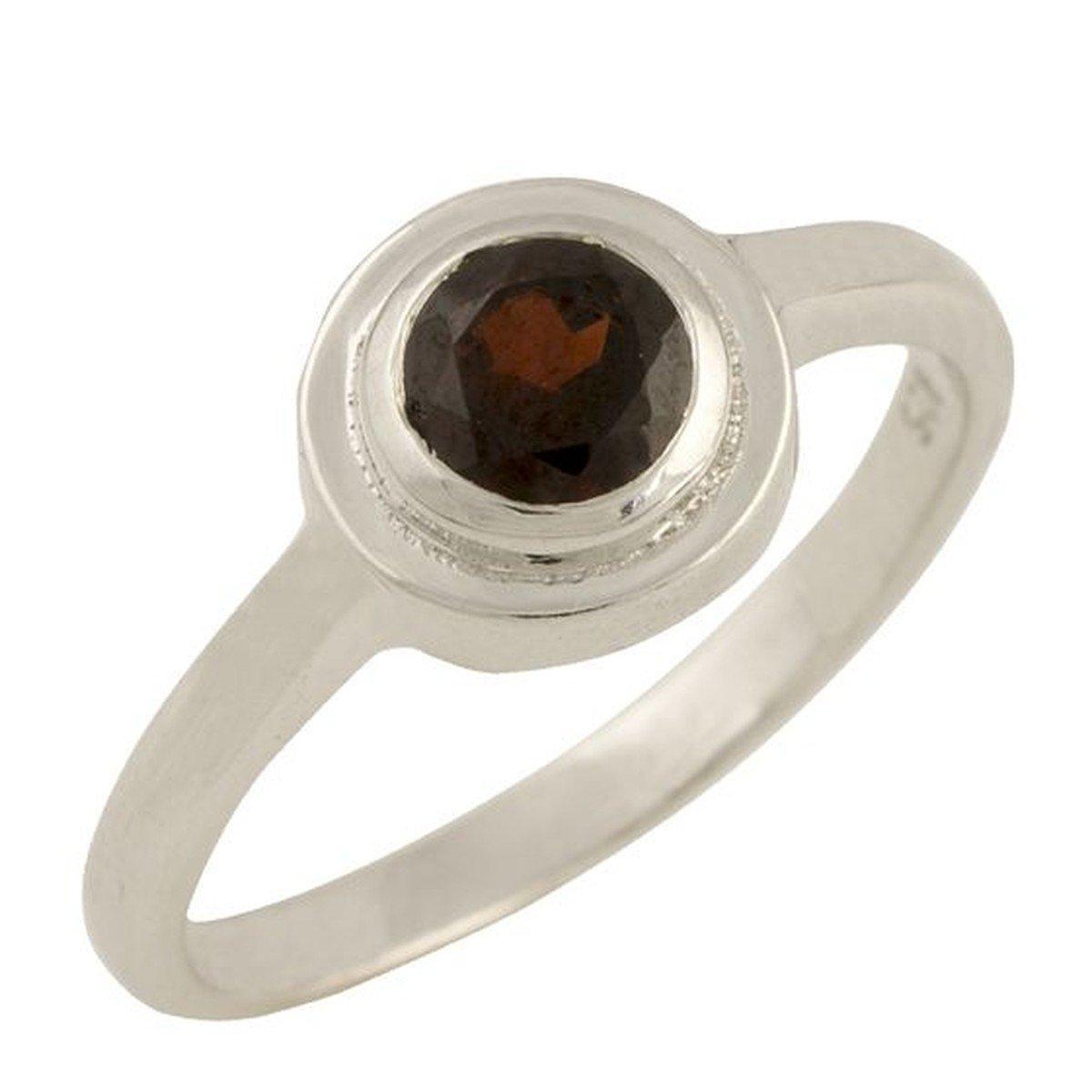 Серебряное кольцо pSilverAlex с натуральным гранатом (1455005) 18 размер
