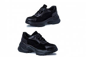 Кроссовки замшевые черные, фото 2