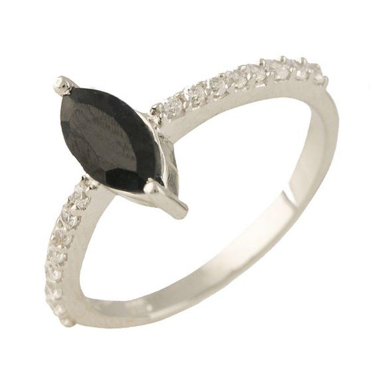 Серебряное кольцо pSilverAlex с натуральным сапфиром (1238653) 17 размер