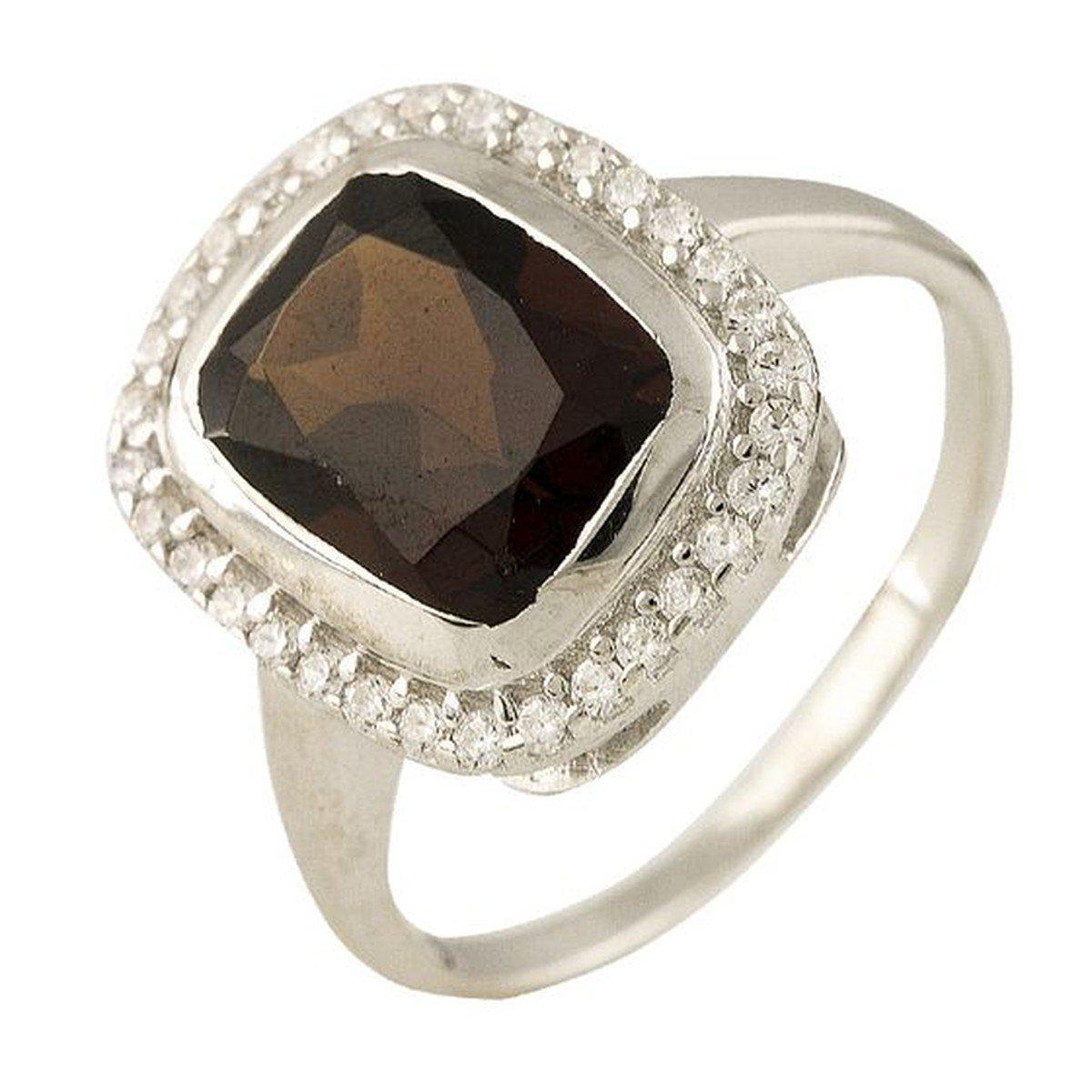Серебряное кольцо pSilverAlex с натуральным гранатом (1245682) 18 размер