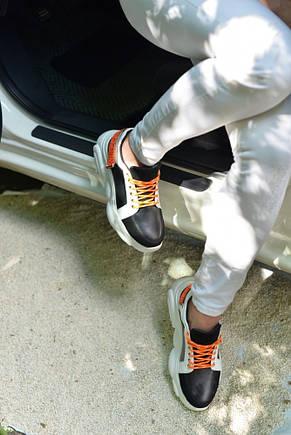 Кроссовки кожаные на липучке, фото 2