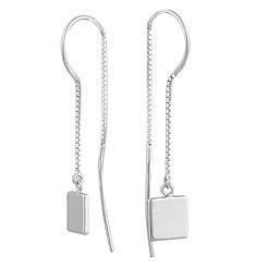 Серебряные серьги pSilverAlex без камней (1584002)