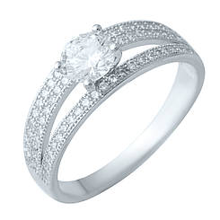 Серебряное кольцо pSilverAlex с фианитами (1914625) 16.5 размер