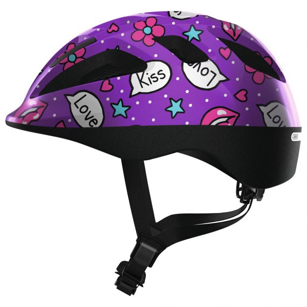 Велосипедний дитячий шолом ABUS SMOOTY 2.0 S 45-50 Purple Kisses 818561