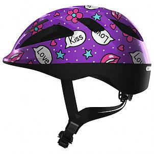 Велосипедний дитячий шолом ABUS SMOOTY 2.0 S 45-50 Purple Kisses 818561, фото 2