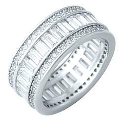 Серебряное кольцо pSilverAlex с фианитами (1918746) 18.5 размер