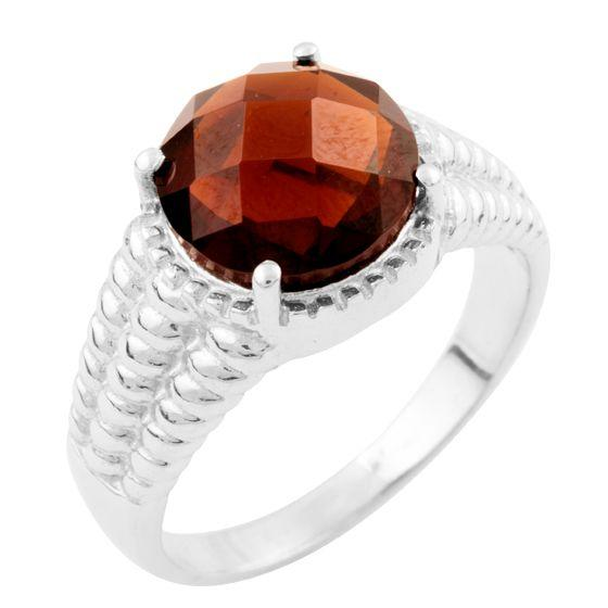 Серебряное кольцо pSilverAlex с натуральным гранатом (1634721) 19 размер