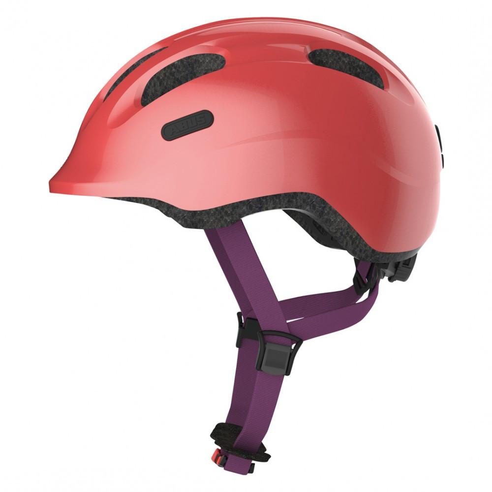 Велосипедний дитячий шолом ABUS SMILEY 2.1 S 45-50 Sparkling Peach 869457