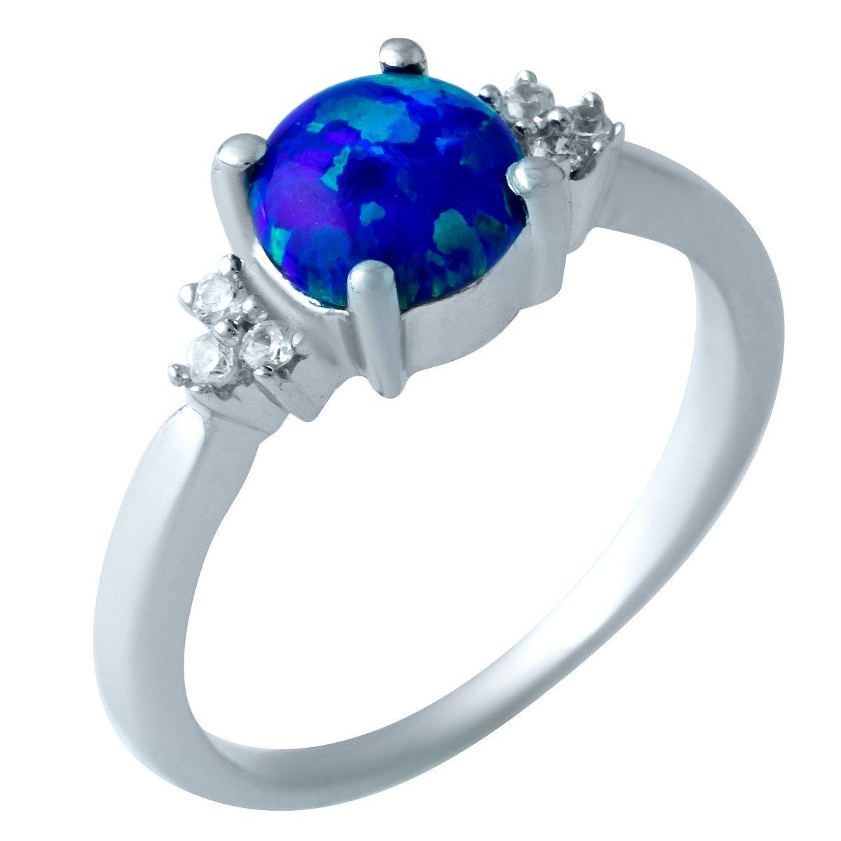 Серебряное кольцо pSilverAlex с опалом (1919774) 18 размер