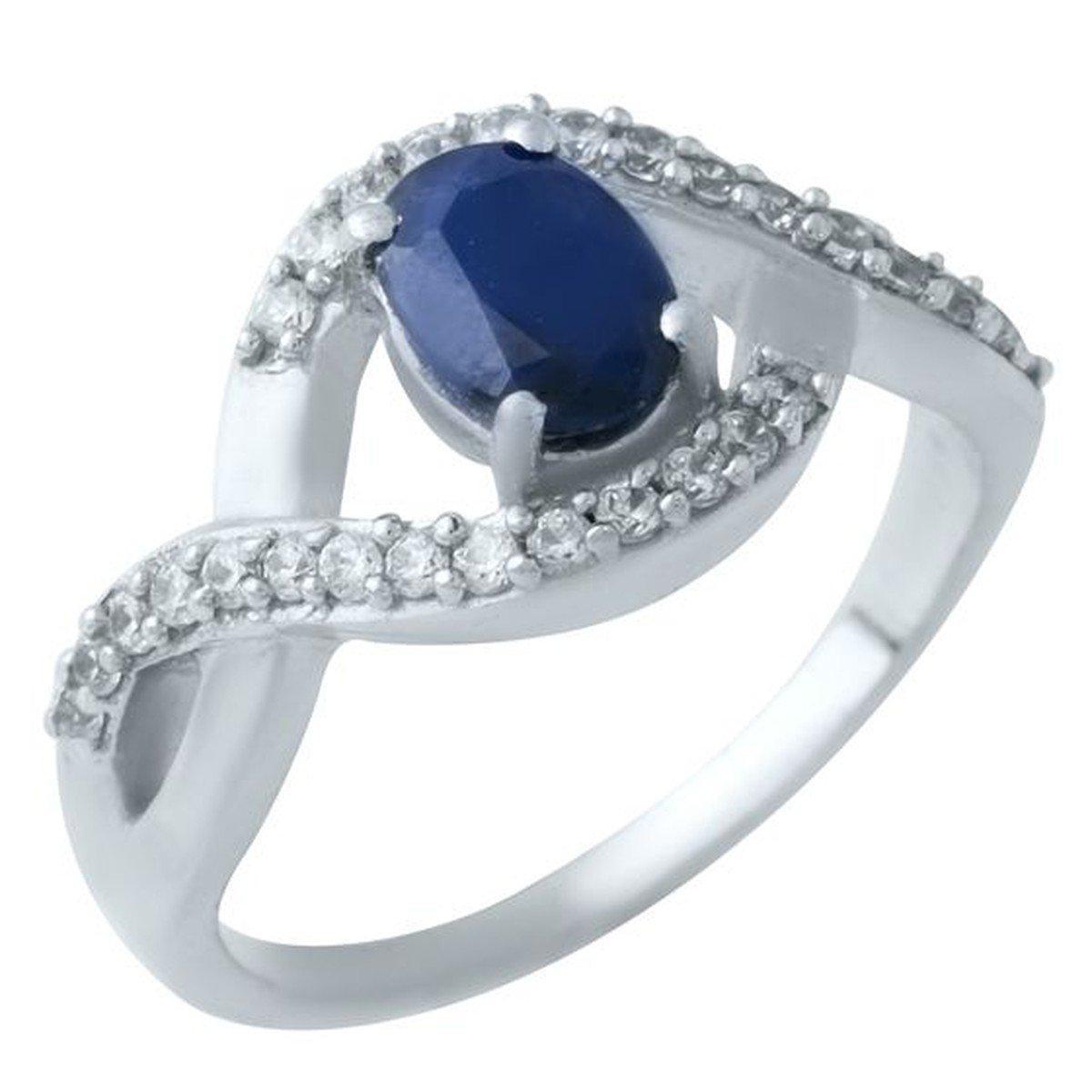 Серебряное кольцо pSilverAlex с натуральным сапфиром (1923962) 17 размер