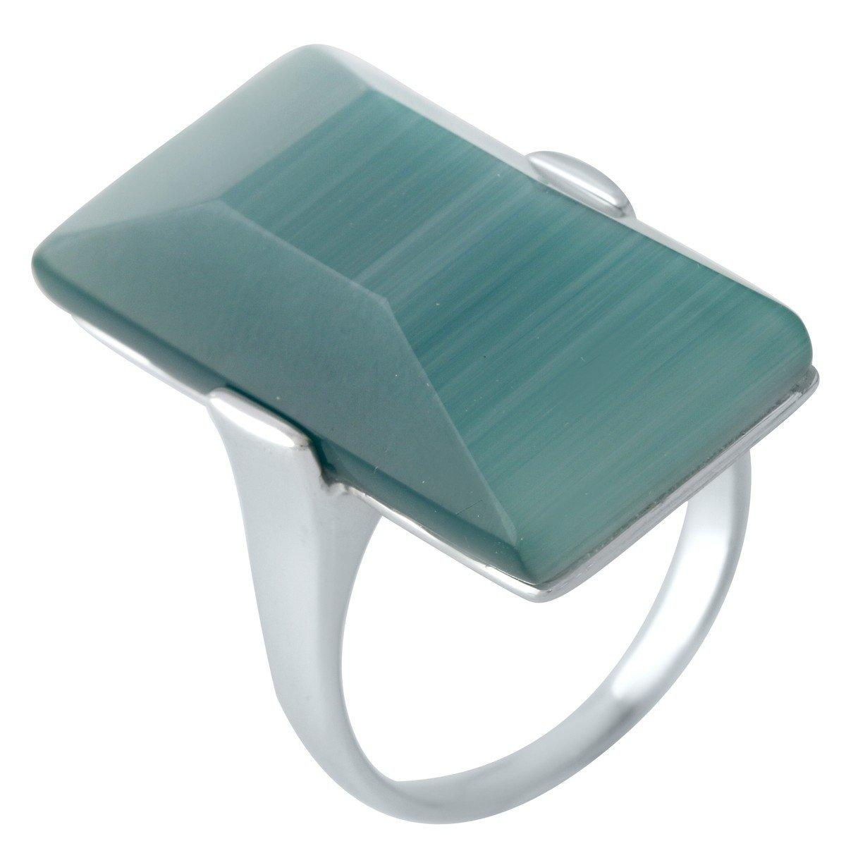 Серебряное кольцо pSilverAlex с кошачим глазом (1955529) 18 размер