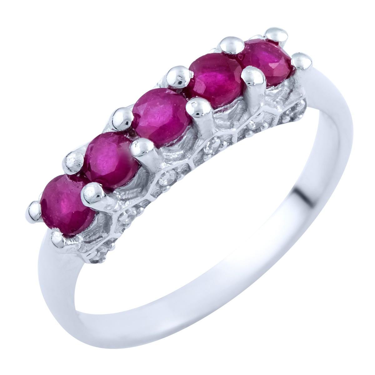 Серебряное кольцо pSilverAlex с натуральным рубином (1824283) 18 размер