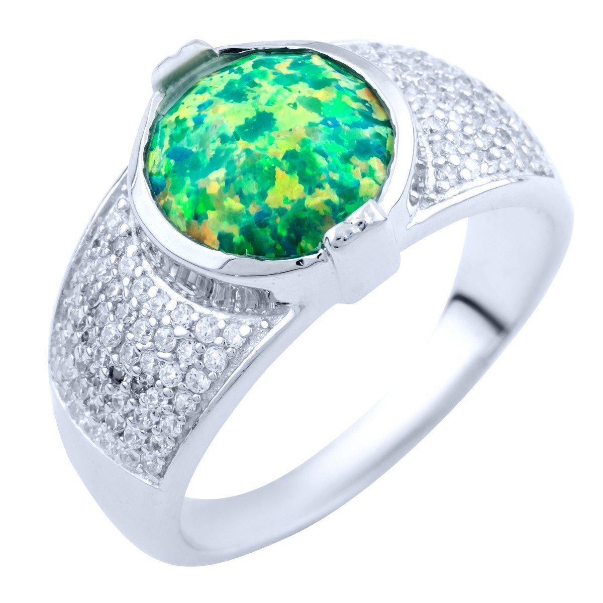 Серебряное кольцо pSilverAlex с опалом (1837528) 17.5 размер