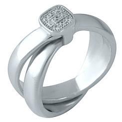 Серебряное кольцо pSilverAlex с фианитами (1957264) 17 размер