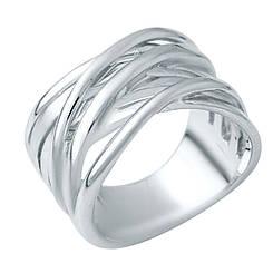Серебряное кольцо pSilverAlex без камней (1941126) 18 размер