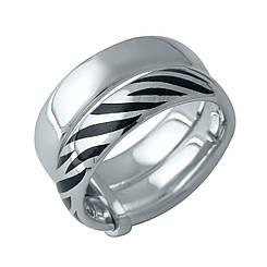 Серебряное кольцо pSilverAlex без камней (1982457) 17 размер