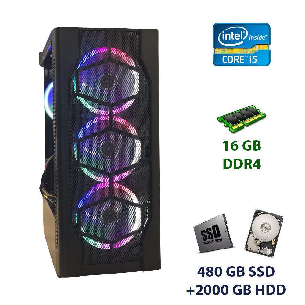 Game PC 1st Player D4-BK-R1 Tower / Intel Core i5-6500 (4 ядра по 3.2 - 3.6 GHz) / 16 GB DDR4 / 480 GB SSD+2000 GB HDD / nVidia GeForce GTX 1060, 6 GB