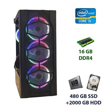 Game PC 1st Player D4-BK-R1 Tower / Intel Core i5-6500 (4 ядра по 3.2 - 3.6 GHz) / 16 GB DDR4 / 480 GB SSD+2000 GB HDD / nVidia GeForce GTX 1060, 6 GB, фото 2