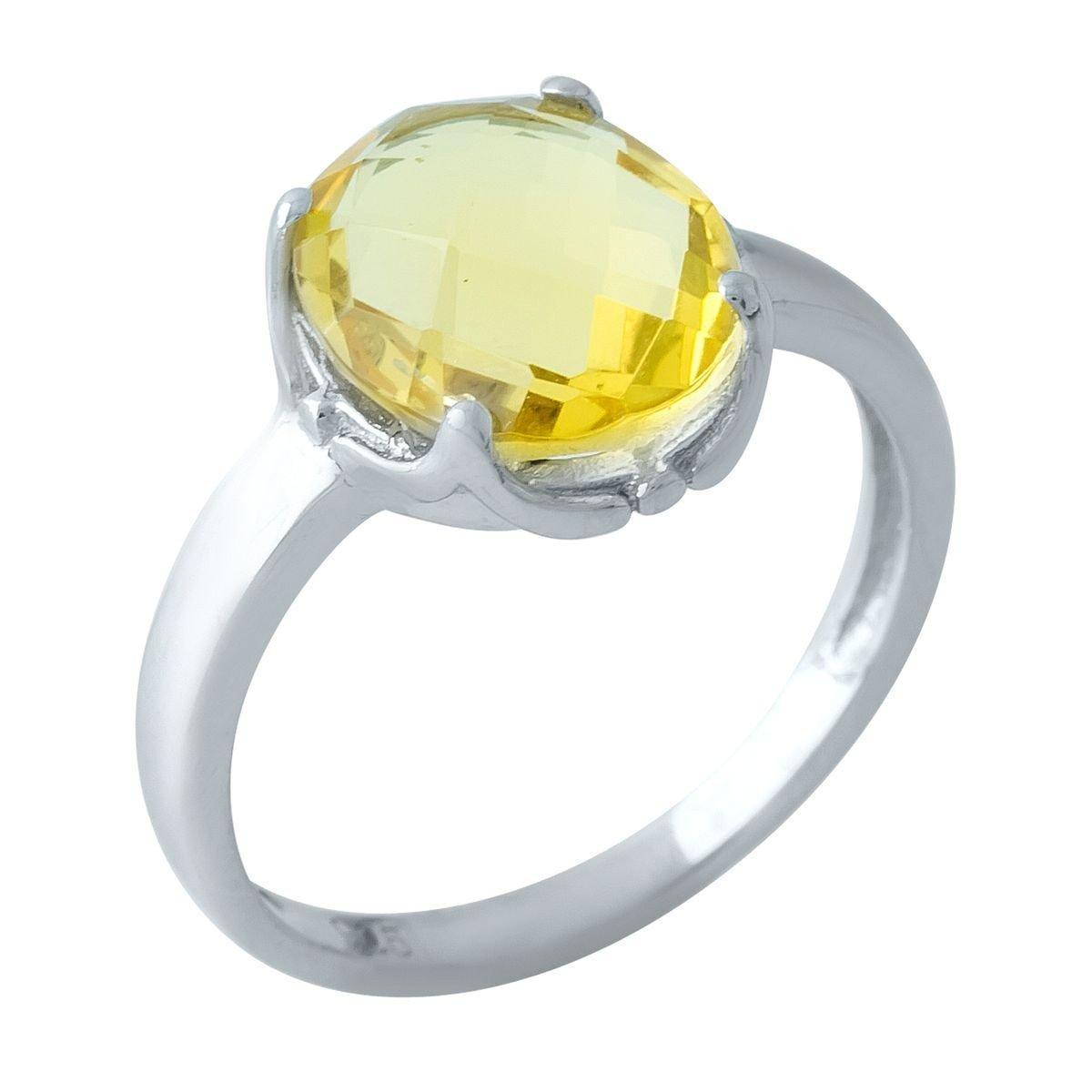 Серебряное кольцо pSilverAlex с цитрином nano (1968062) 19 размер