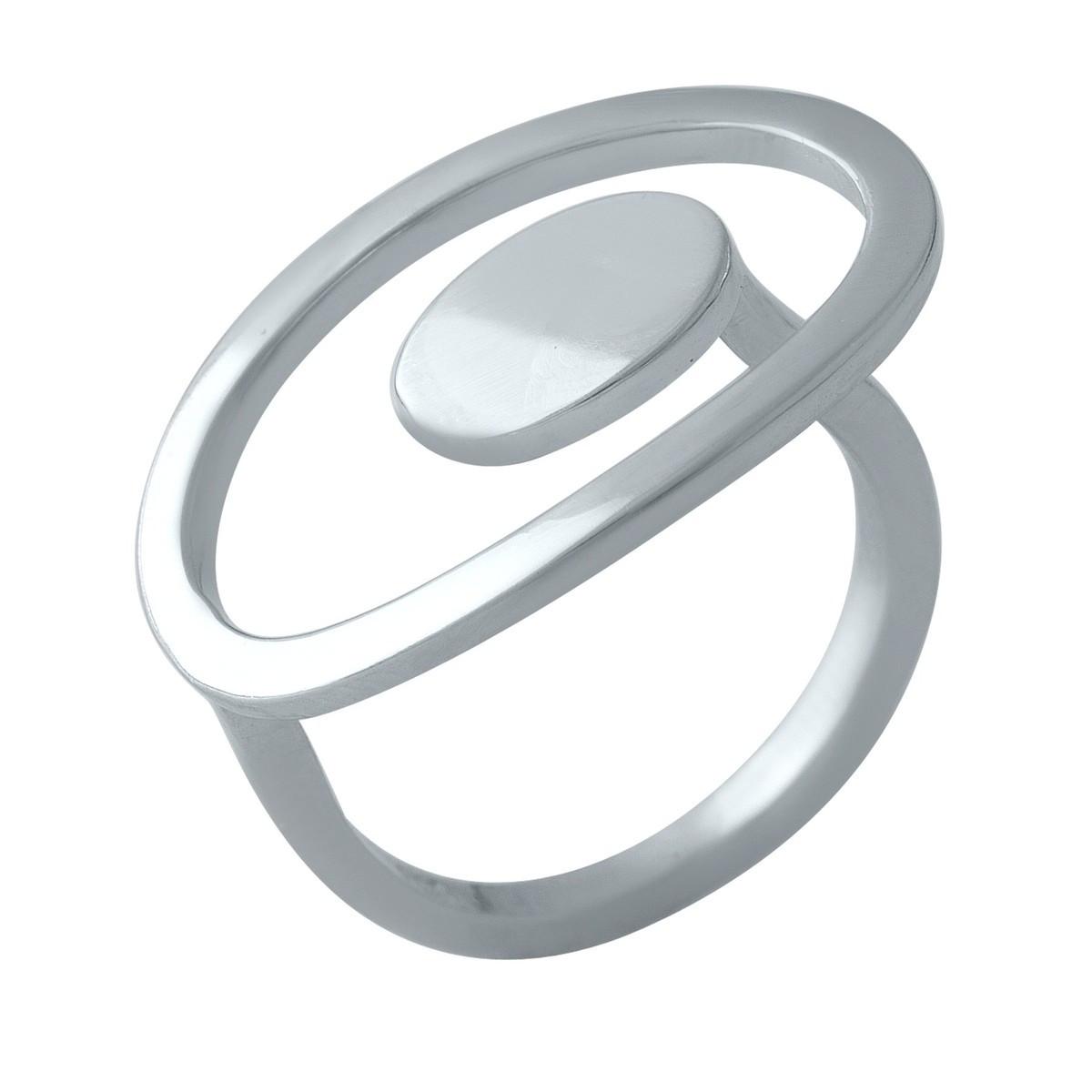 Серебряное кольцо pSilverAlex без камней (1998434) 18 размер