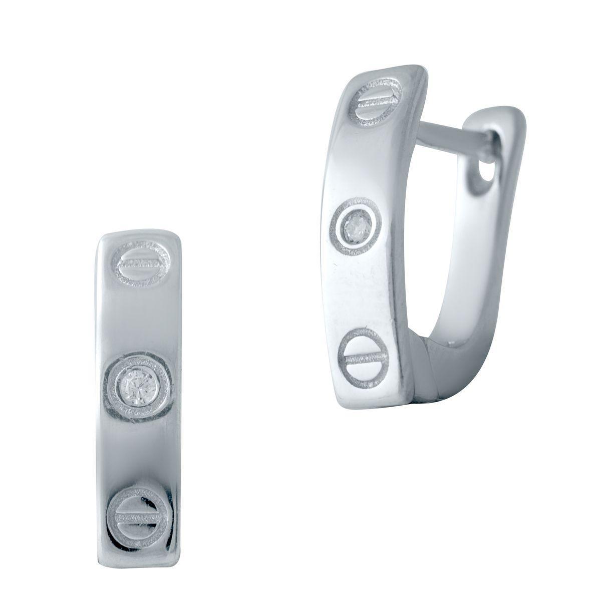 Серебряные серьги pSilverAlex с фианитами (2040989)