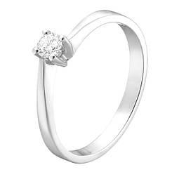 Золотое кольцо pSilverAlex с натуральными бриллиантом (60001211) 17.5 размер