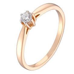 Золотое кольцо pSilverAlex с натуральными бриллиантом (60001215) 17.5 размер