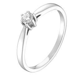 Золотое кольцо pSilverAlex с натуральными бриллиантом (60001216) 17.5 размер